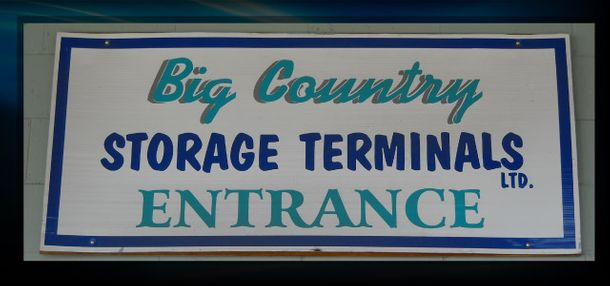 Big Country Storage Terminals Entrance